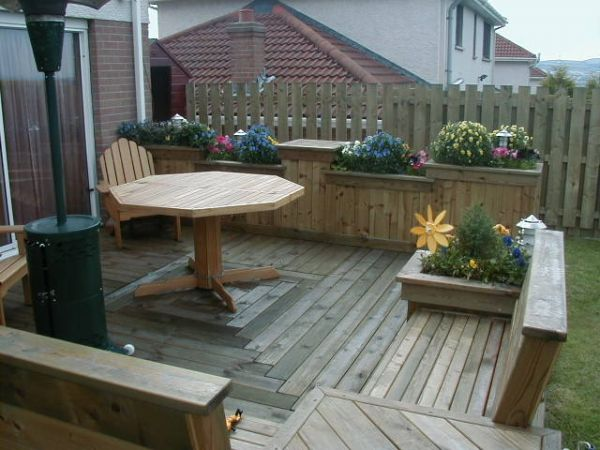 Deck Seats and Planter Boxes