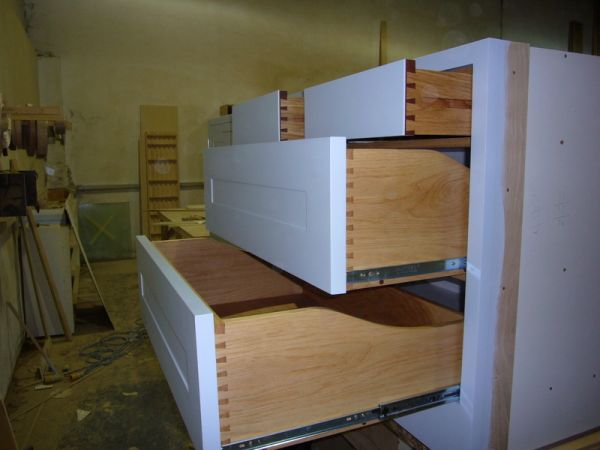 Oak and Walnut Dovetailed Drawers